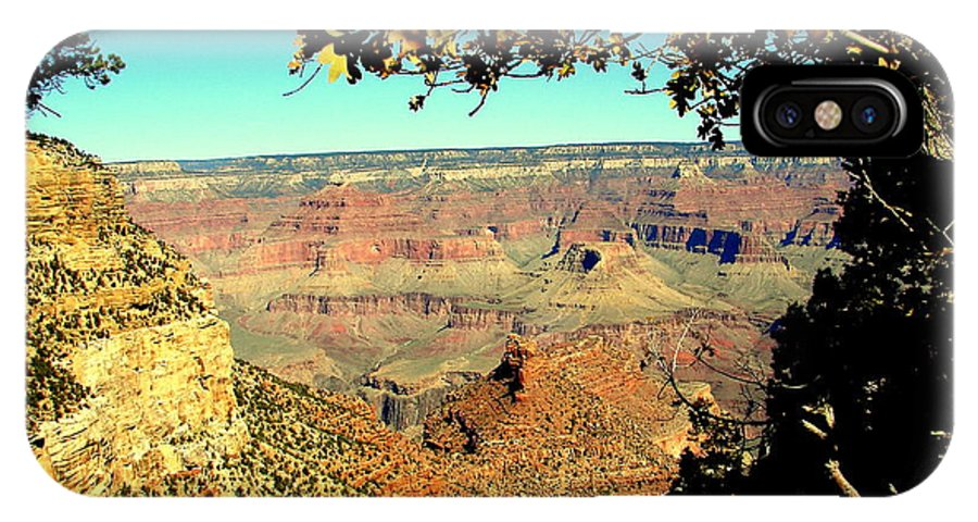 Grand Canyon IPhone X Case featuring the photograph Grand Canyon Framed By Nature by John Potts