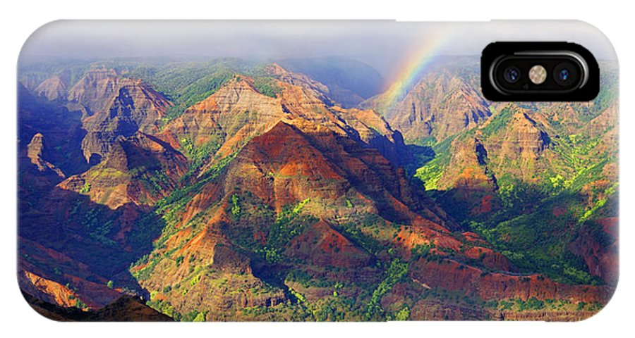 Waimea Canyon IPhone X Case featuring the photograph Grand Canyon Of The Pacific by Kevin Smith