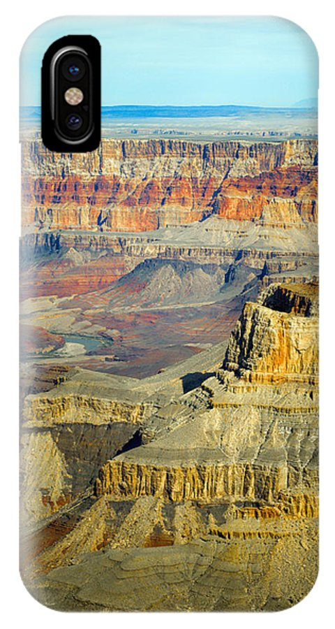 Aerial IPhone X Case featuring the photograph Grand Canyon by Photos By Pharos