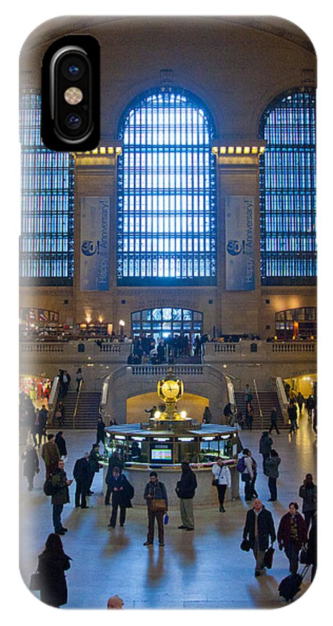 New York City IPhone X Case featuring the photograph Grand Central Station by Lindley Johnson