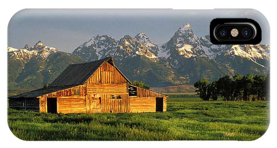 Barn IPhone X Case featuring the photograph Grand Teton National Park , Wyhomestead by Ted Wood
