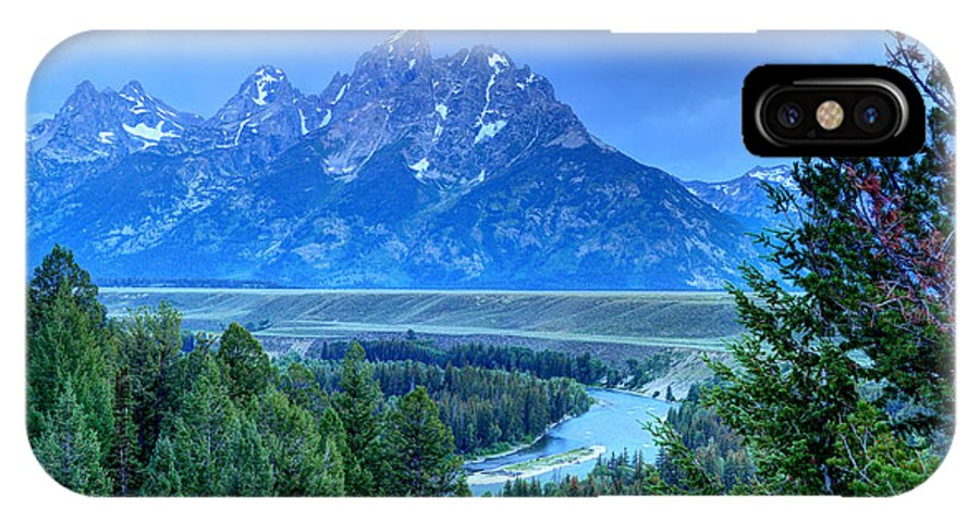 Teton National Park IPhone X / XS Case featuring the photograph Grand Teton - Snake River Overlook by Gary Whitton