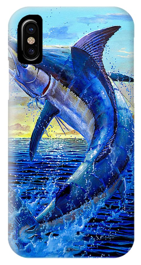 Marlin IPhone X Case featuring the painting Grander Off007 by Carey Chen