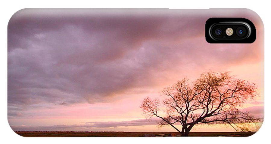 Galveston IPhone X Case featuring the photograph Storm At Dusk 2am-108346 by Andrew McInnes