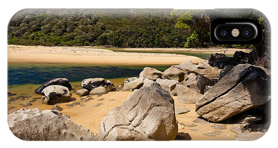 Cook Strait IPhone X Case featuring the photograph Granite Boulders In Abel Tasman Np New Zealand by Stephan Pietzko