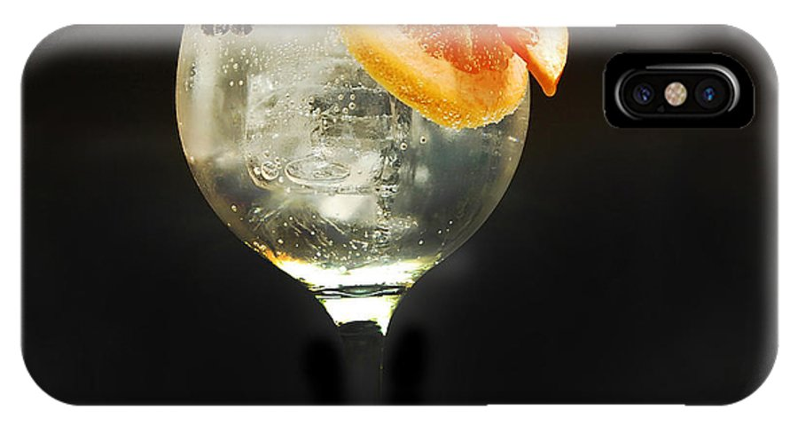 Gintonic IPhone X Case featuring the photograph Grapefruit Gin Tonic by Gina Dsgn