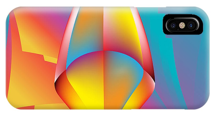 Mandala IPhone X Case featuring the digital art Graphic No. 1304 by Alan Bennington