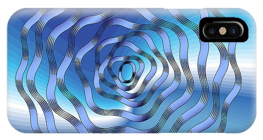 Mandala IPhone X Case featuring the digital art Graphic No. 1318 by Alan Bennington