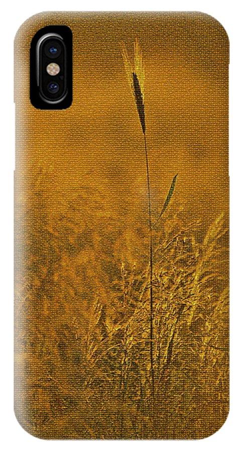 Grass IPhone X Case featuring the digital art Grass In The Light Of The Rising Sun by Ronald Jansen