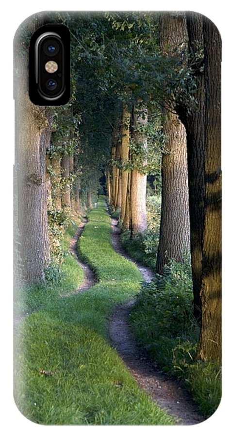 Tortuous IPhone X Case featuring the photograph Grass Lane by Ronald Jansen