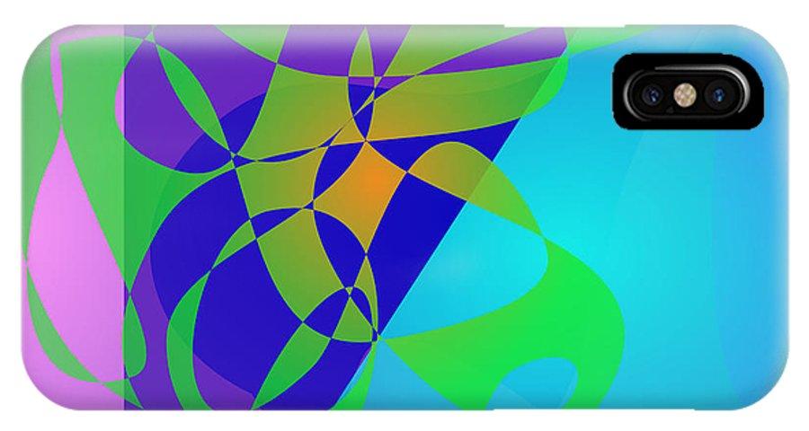 Gradation IPhone X Case featuring the digital art Grassland by Masaaki Kimura