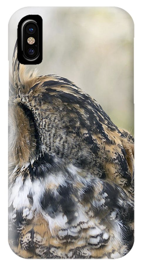Great Horned Owls IPhone X Case featuring the photograph Great Horned Owl by Dana Moyer