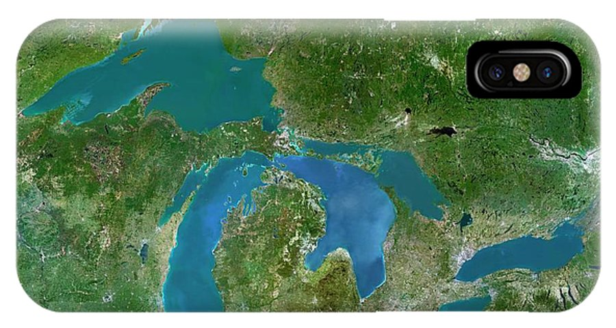 Great Lakes IPhone X Case featuring the photograph Great Lakes by Planetobserver/science Photo Library