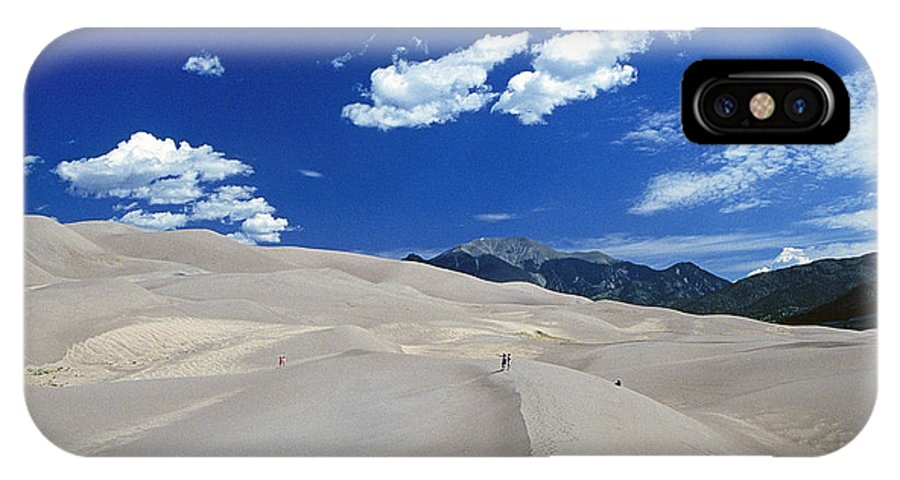 Hikers IPhone X Case featuring the photograph Great Sand Dunes IIi by Buddy Mays