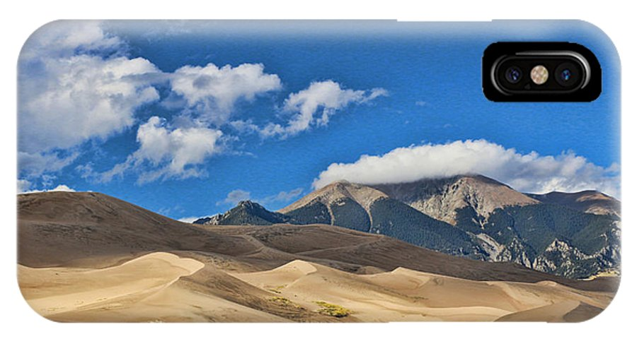 The Great Sand Dunes National Park IPhone X Case featuring the photograph The Great Sand Dunes National Park 2 by Allen Beatty