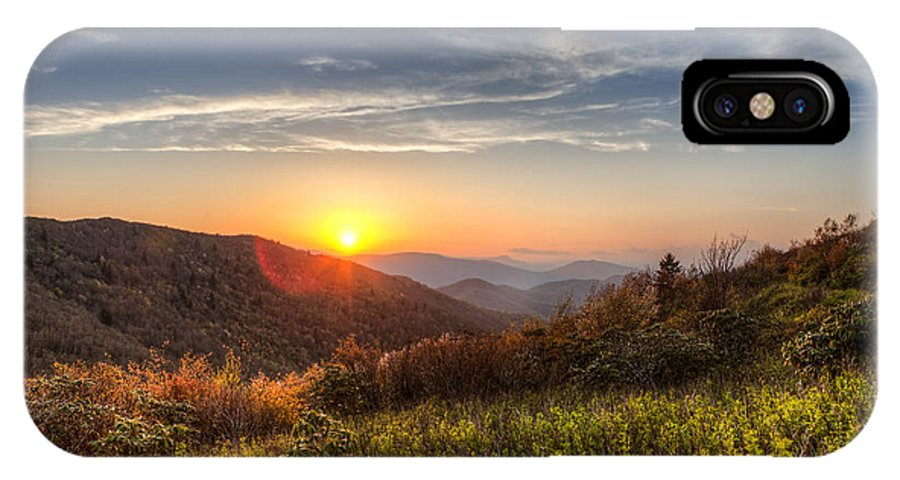 Carolina IPhone X Case featuring the photograph Great Smoky Mountains At Sunset by John Wollwerth