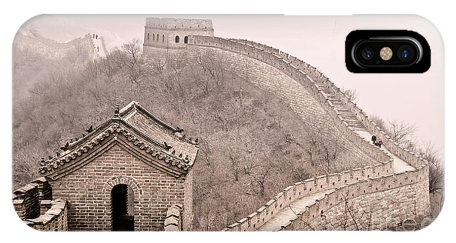 Great Wall Of China IPhone X Case featuring the photograph Great Wall Of China by Delphimages Photo Creations