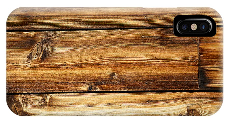 Wood IPhone X Case featuring the photograph Great Weathered Wood Background by Sylvie Bouchard