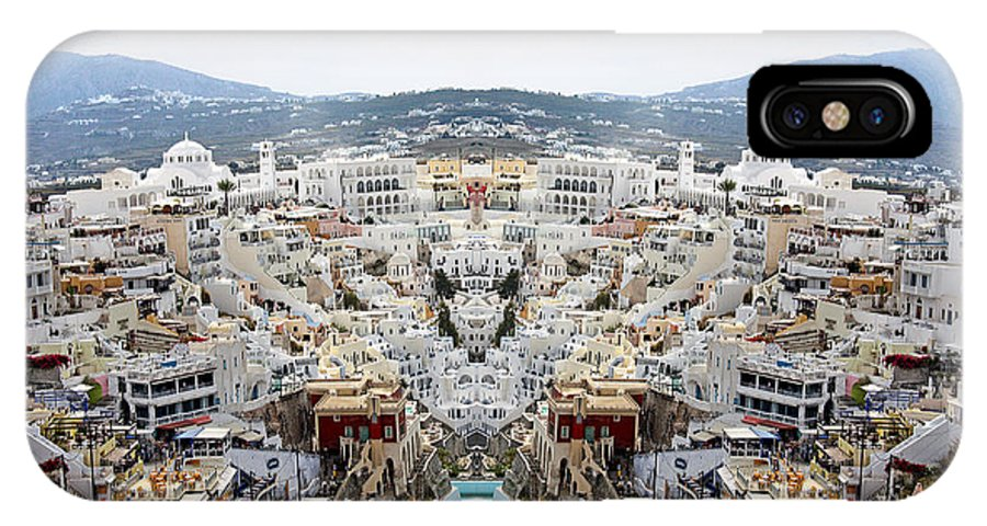 Greece IPhone X Case featuring the photograph Greece Double Vision #51 by Evan Peller