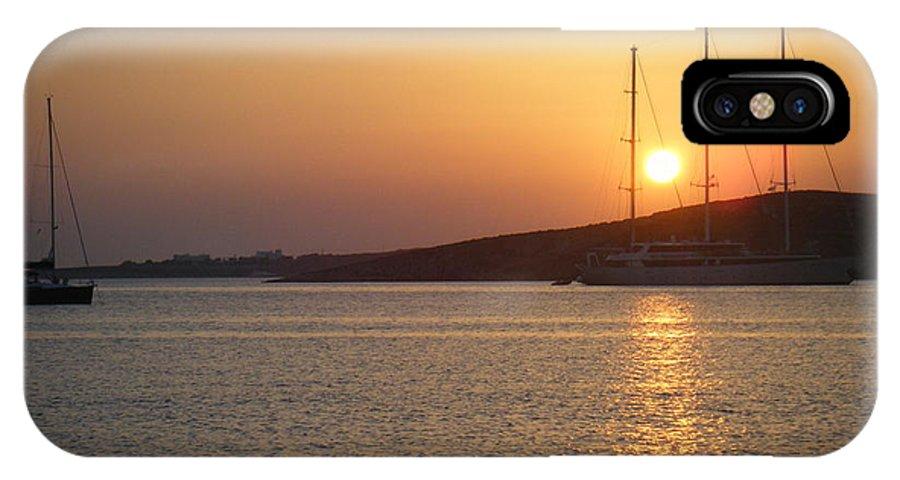 Greece IPhone X Case featuring the photograph Greek Island Sunset by David McCadden