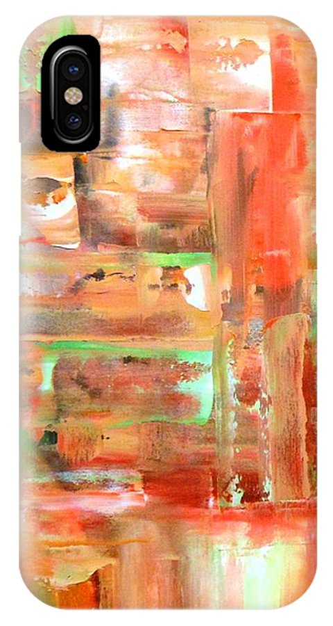 Lyle IPhone X Case featuring the painting Green 4 by Lord Frederick Lyle Morris - Disabled Veteran