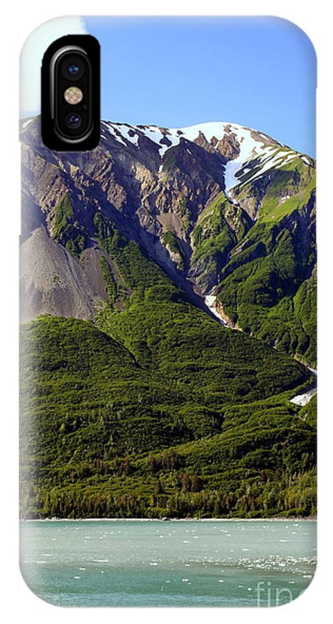 Glacier IPhone X Case featuring the photograph Green Alaska by Sophie Vigneault
