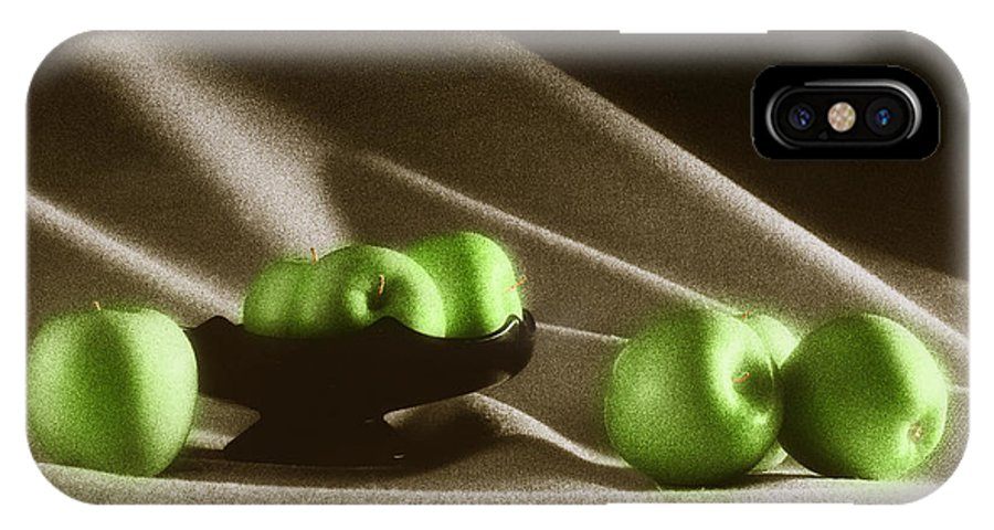 Granny Smith IPhone Case featuring the photograph Green Apples by Tony Cordoza