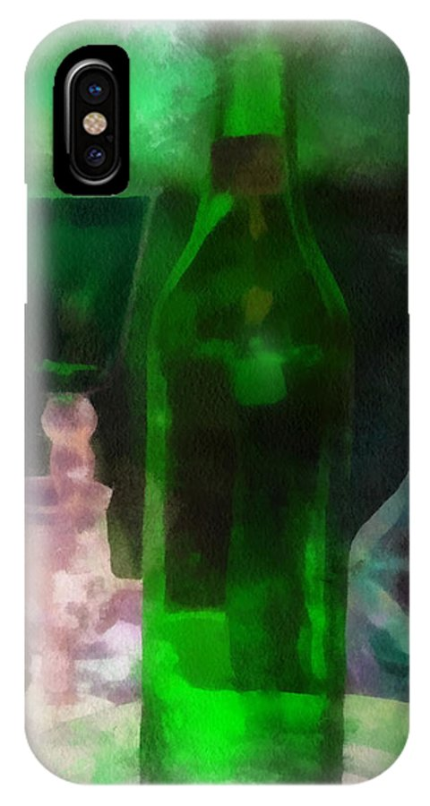 Bottle IPhone X Case featuring the photograph Green Bottle Photo Art by Thomas Woolworth