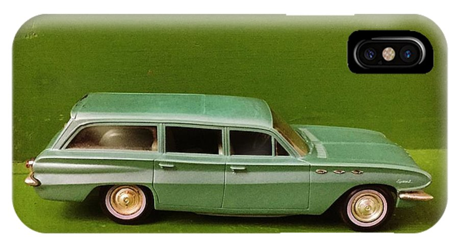 Model Cars IPhone X Case featuring the photograph Green Buick Station Wagon by Matt Woolsey