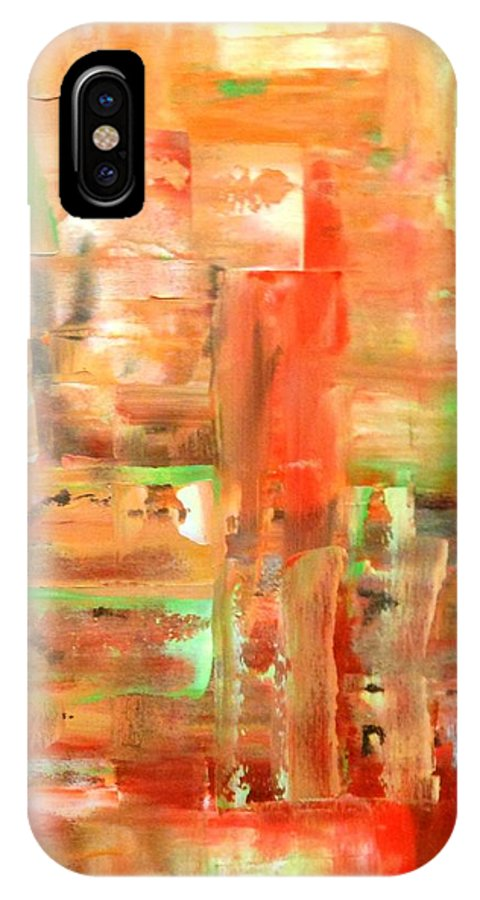 Lyle IPhone X Case featuring the painting Green II by Lord Frederick Lyle Morris - Disabled Veteran