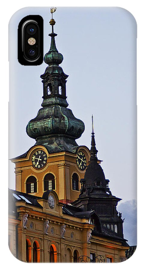Slovakia IPhone X / XS Case featuring the photograph Green Tower by Alex Art and Photo