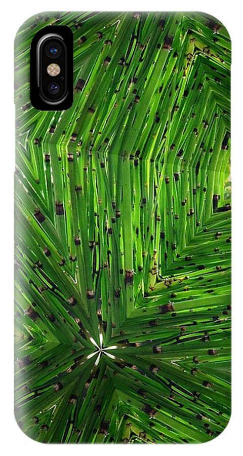Plant IPhone X Case featuring the photograph Green Weave by Dickson Shia