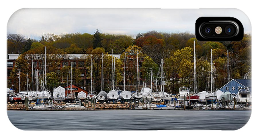 Rhode Island IPhone X Case featuring the photograph Greenwich Harbor by Lourry Legarde