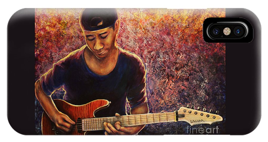 Greg IPhone X Case featuring the painting Greg Howe by Tylir Wisdom