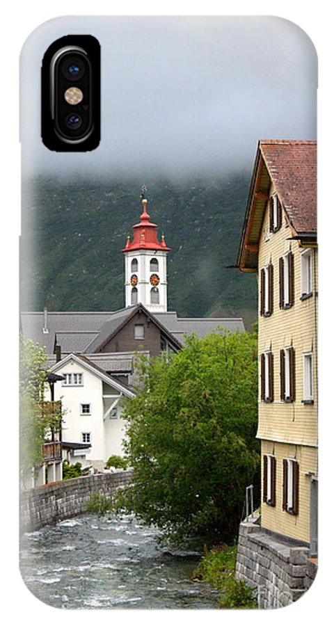 IPhone X Case featuring the photograph Grey Day In Switzerland by Elizabeth-Anne King