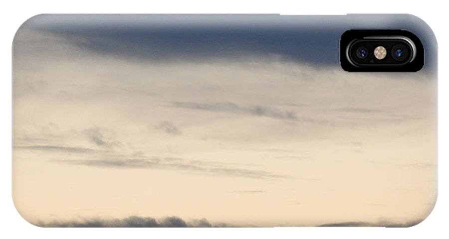 Greys IPhone X Case featuring the photograph Grey Skies by Annette Miller