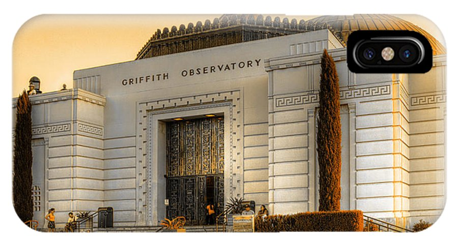 Griffith Observatory IPhone X Case featuring the photograph Griffith Observatory - Mike Hope by Michael Hope