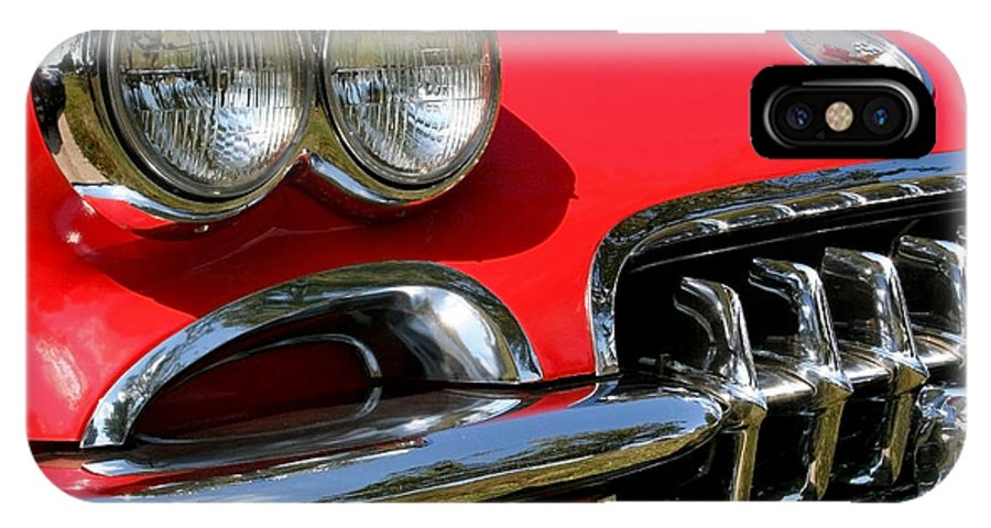 Chevrolet Corvette IPhone X Case featuring the photograph Grille On A 1960 Corvette by LeeAnn White