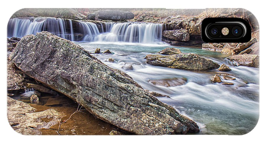 Babcock State Park IPhone X Case featuring the photograph Gristmill At The Creek by Mary Almond