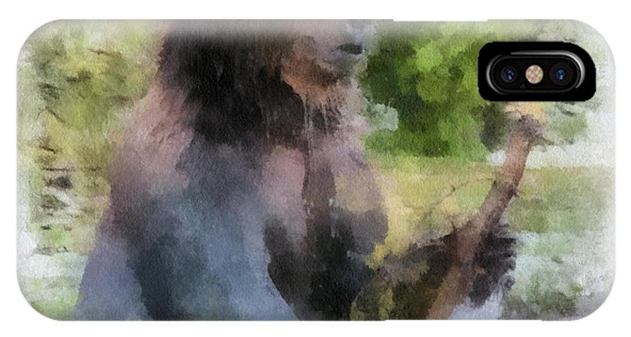 Grizzly IPhone X Case featuring the photograph Grizzly Bear Photo Art 01 by Thomas Woolworth