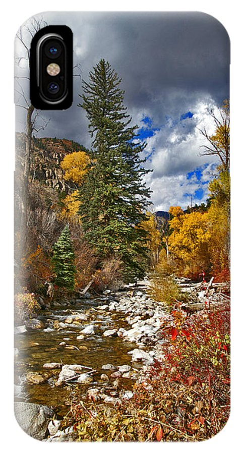 Grizzly Creek IPhone X Case featuring the photograph Grizzly Creek Vertical by Jeremy Rhoades