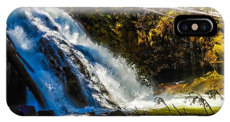 Montana IPhone X Case featuring the photograph Grotto Falls by Dr Gary Guest