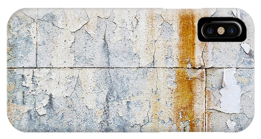 Concrete Wall IPhone X Case featuring the photograph Grunge Concrete Texture by Tim Hester