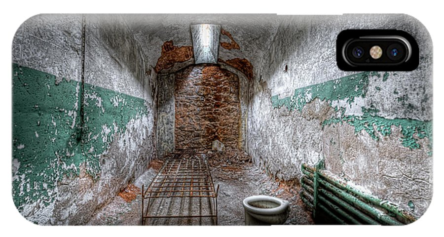 Pa IPhone X Case featuring the photograph Grungy Prison Cell by Michael Ver Sprill
