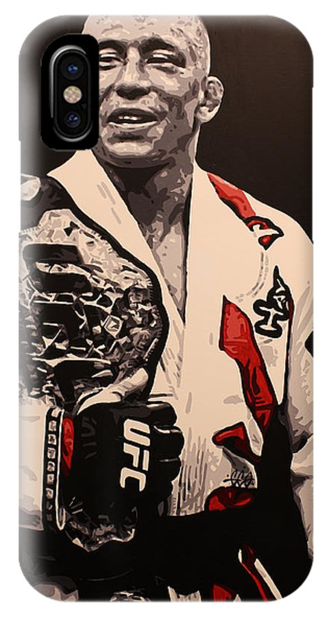 Gsp IPhone X / XS Case featuring the painting Gsp 6 by Geo Thomson