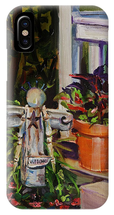 Guardian Angel IPhone X Case featuring the painting Guardian Angel by Mitzi Lai