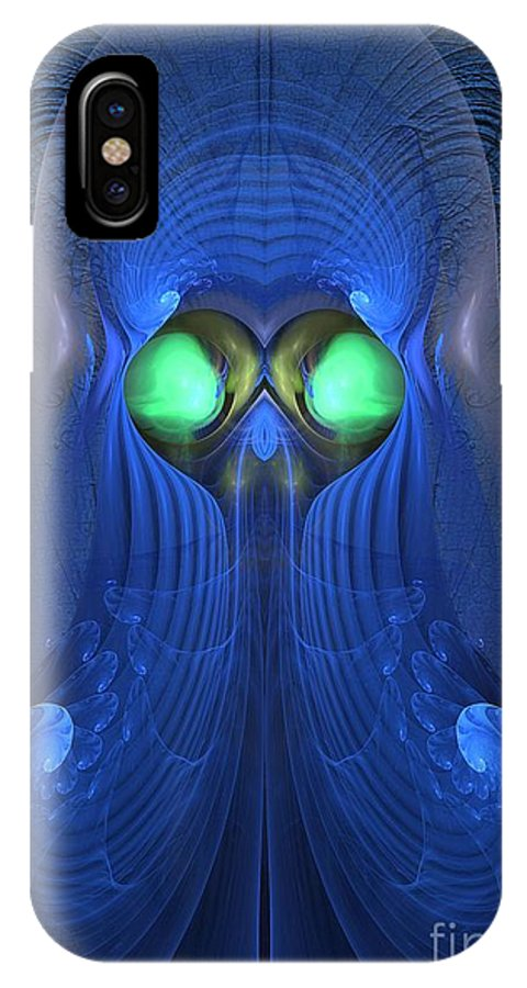 Surrealism IPhone X Case featuring the digital art Guardian Of Souls - Surrealism by Sipo Liimatainen
