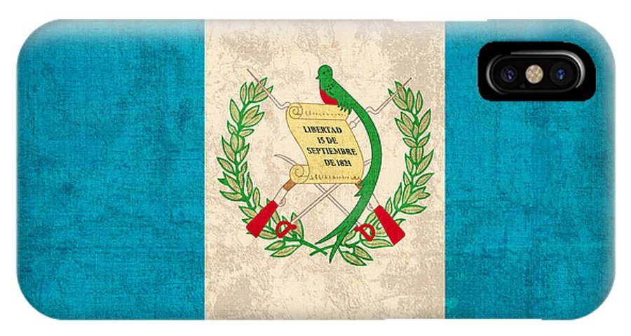 guatemala flag vintage distressed finish iphone x xs case for sale