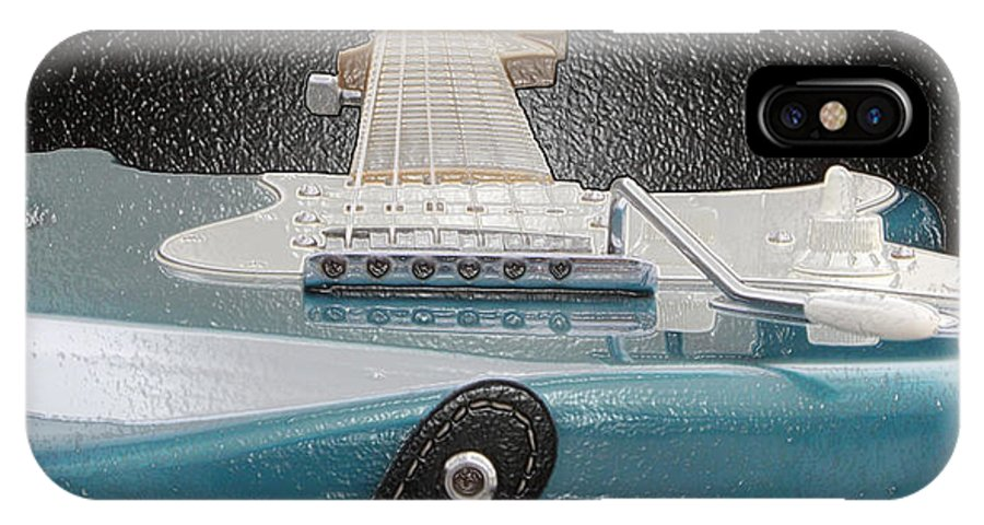 Guitar IPhone X Case featuring the photograph Guitar Art by Shoal Hollingsworth