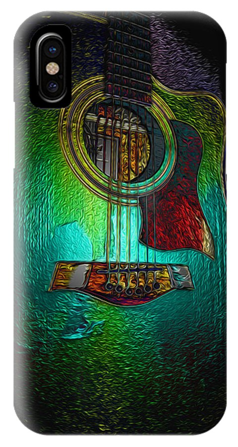 Guitar Art IPhone X Case featuring the photograph Guitar Metalica by P Donovan